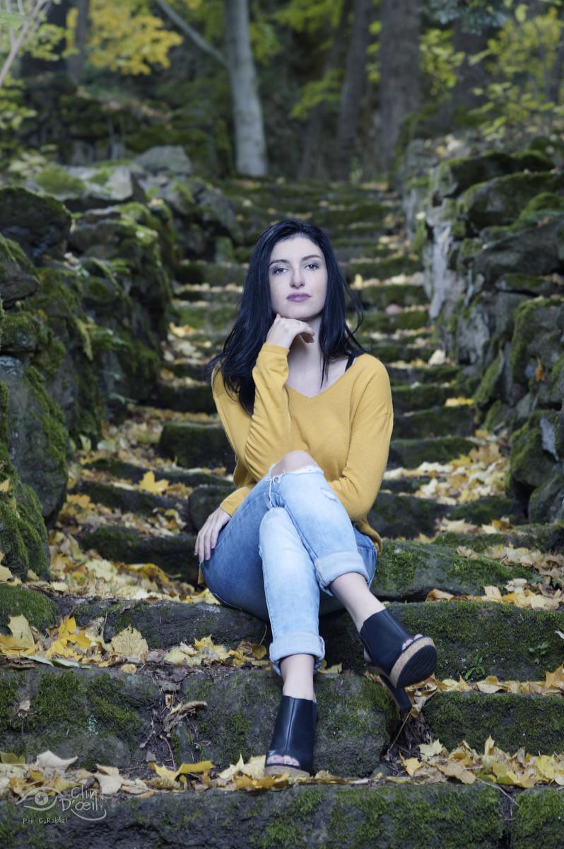 Louana en automne - Shooting automnal avec modèle féminin - Clin d'oeil Ponot - Photographe au ...