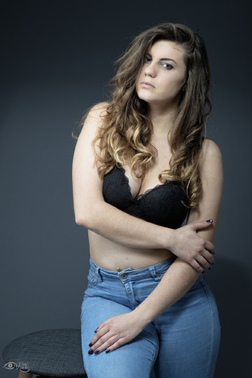 Photo studio en jean et lingerie